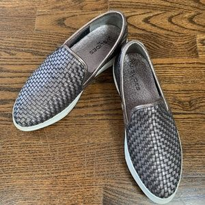 J/Slides slip-on Pewter Woven Leather sneakers - 7